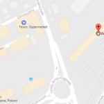 Mapa z nowym przystankiem początkowym